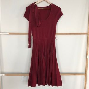 BCBG red sweater dress